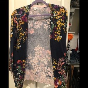 Floral cardigan. Worn once.